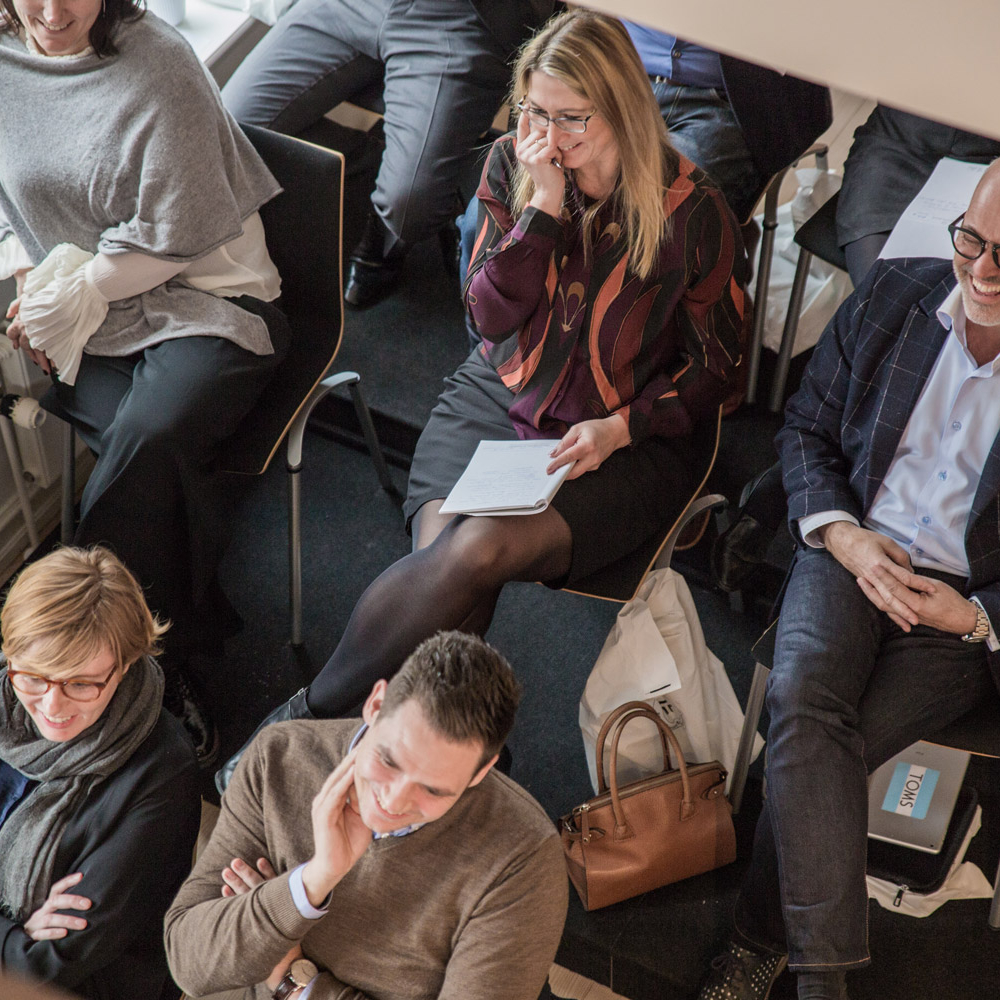 Deltagere på konference hos pej gruppen. Foto: Anja Bloch-Hamre