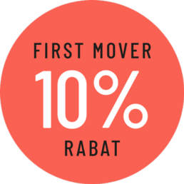 FIrst mover rabat 10%