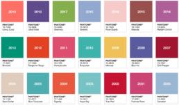 Pantone COY 2000-2019